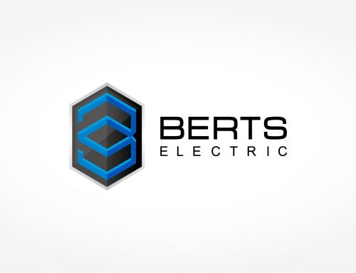 BERTS ELECTRIC logo brand design – concept and design by Mapleweb