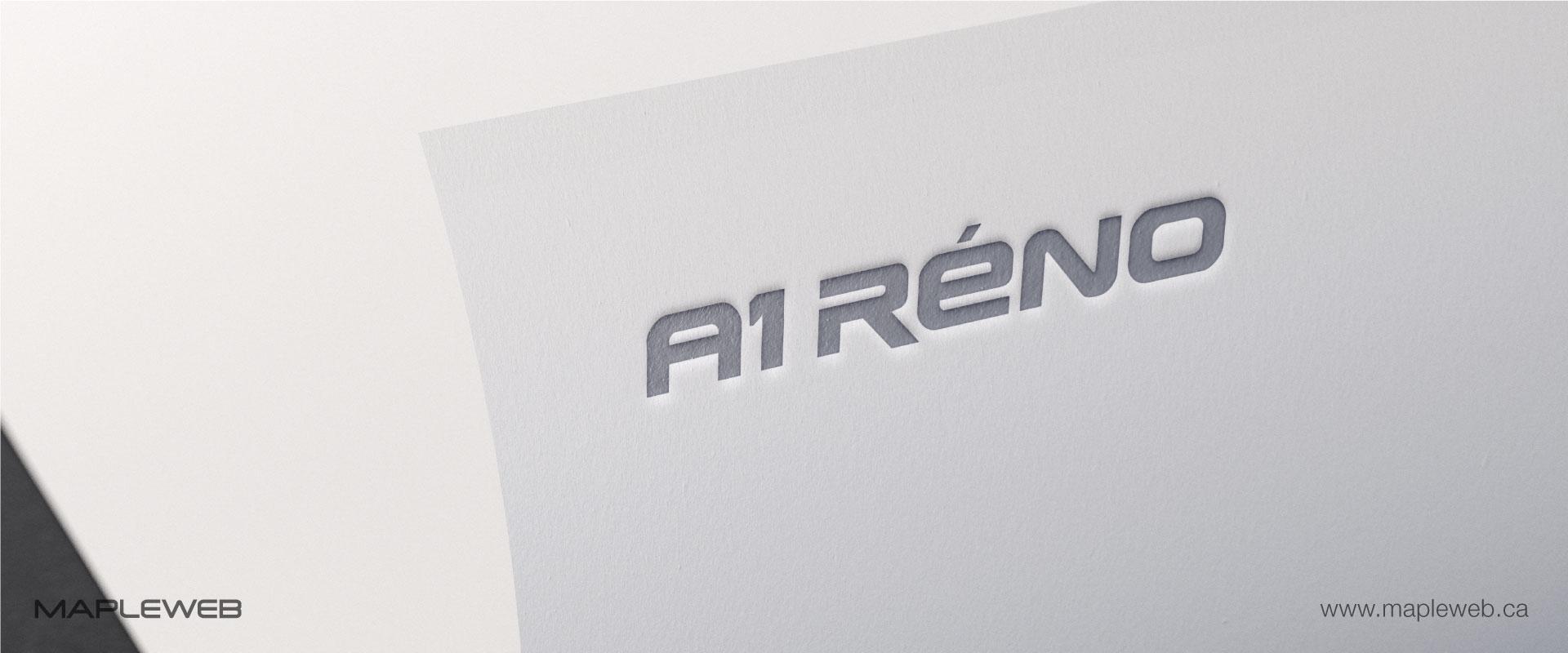 a1-reno-brand-logo-design-by-mapleweb-vancouver-canada-logo-paper-effect-mock