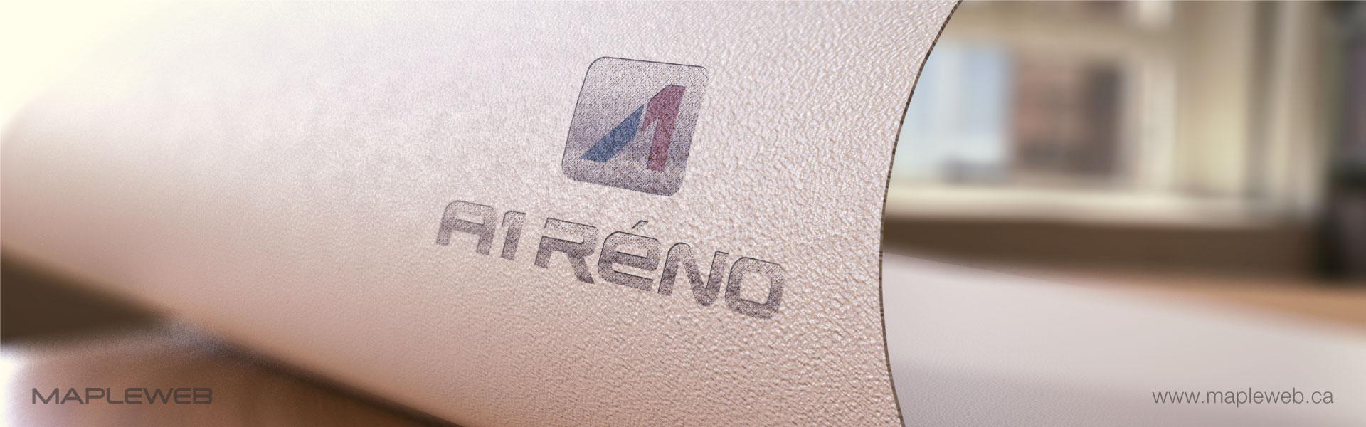a1-reno-brand-logo-design-by-mapleweb-vancouver-canada-paper-mock