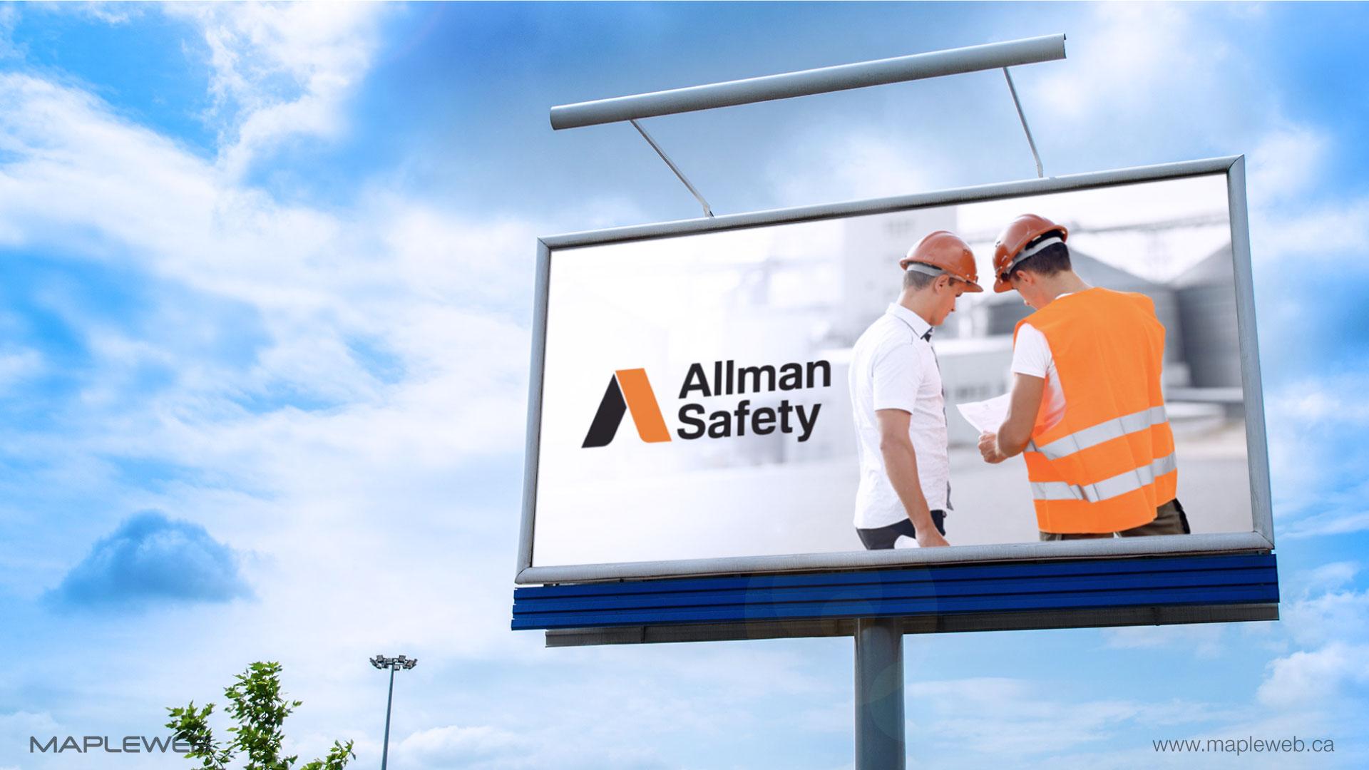 allman-safety-brand-logo-design-by-mapleweb-vancouver-canada-billboard-mock
