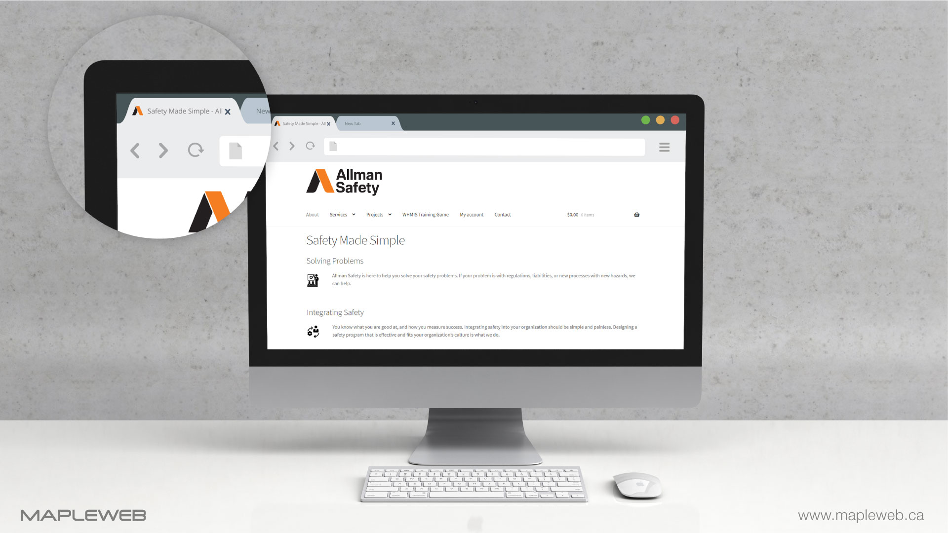 allman-safety-brand-logo-design-by-mapleweb-vancouver-canada-title-icon-on-google-tab-bar-mock