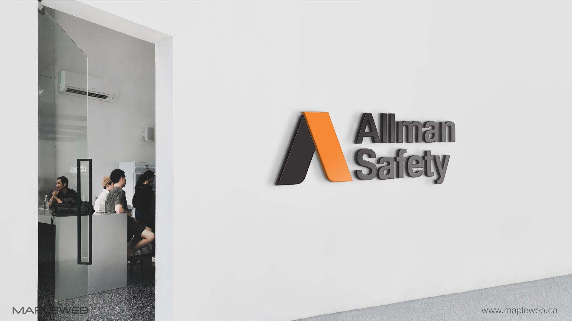 allman-safety-brand-logo-design-by-mapleweb-vancouver-canada-wall-mock