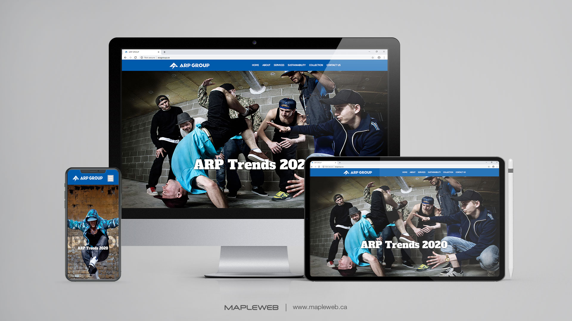 arp-group-Vancouver-web-design-Vancouver-web-development-by-mapleweb-canada-multiple-devices-display