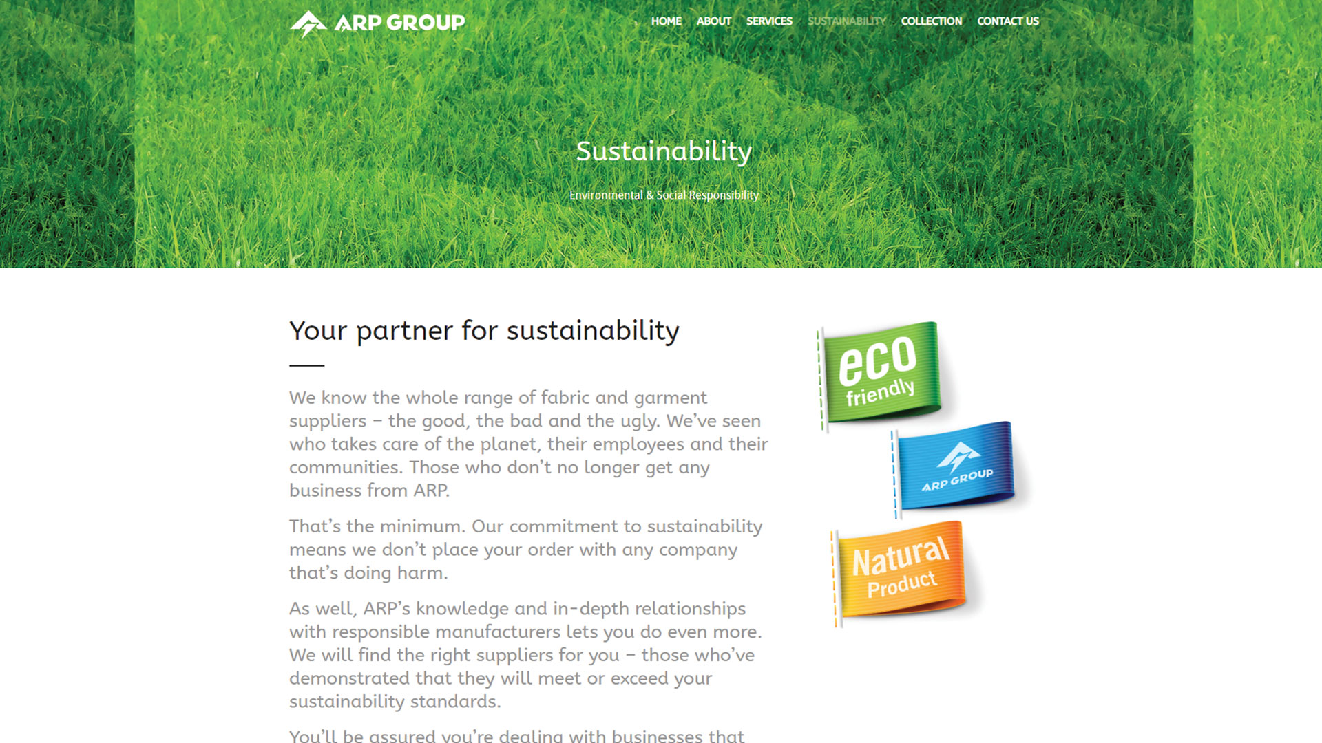 arp-group-Vancouver-web-design-Vancouver-web-development-by-mapleweb-canada-sustainability-green-grass-page-image