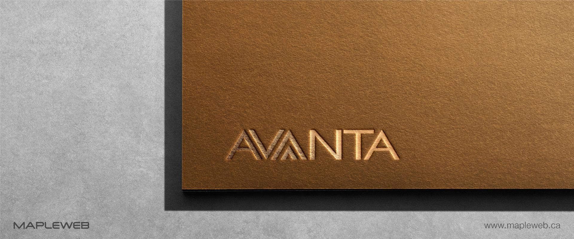avanta-brand-logo-design-by-mapleweb-vancouver-canada-paper-gold-mock