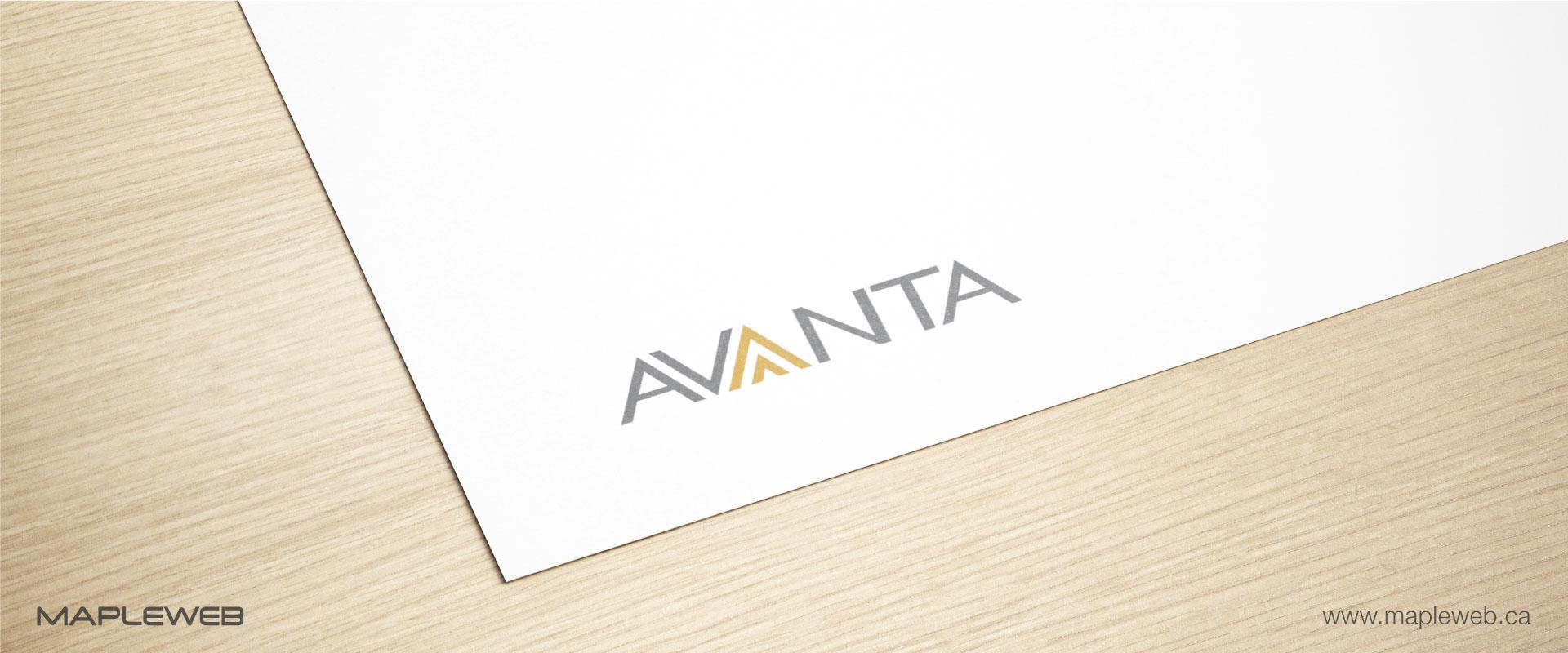 avanta-brand-logo-design-by-mapleweb-vancouver-canada-paper-mock