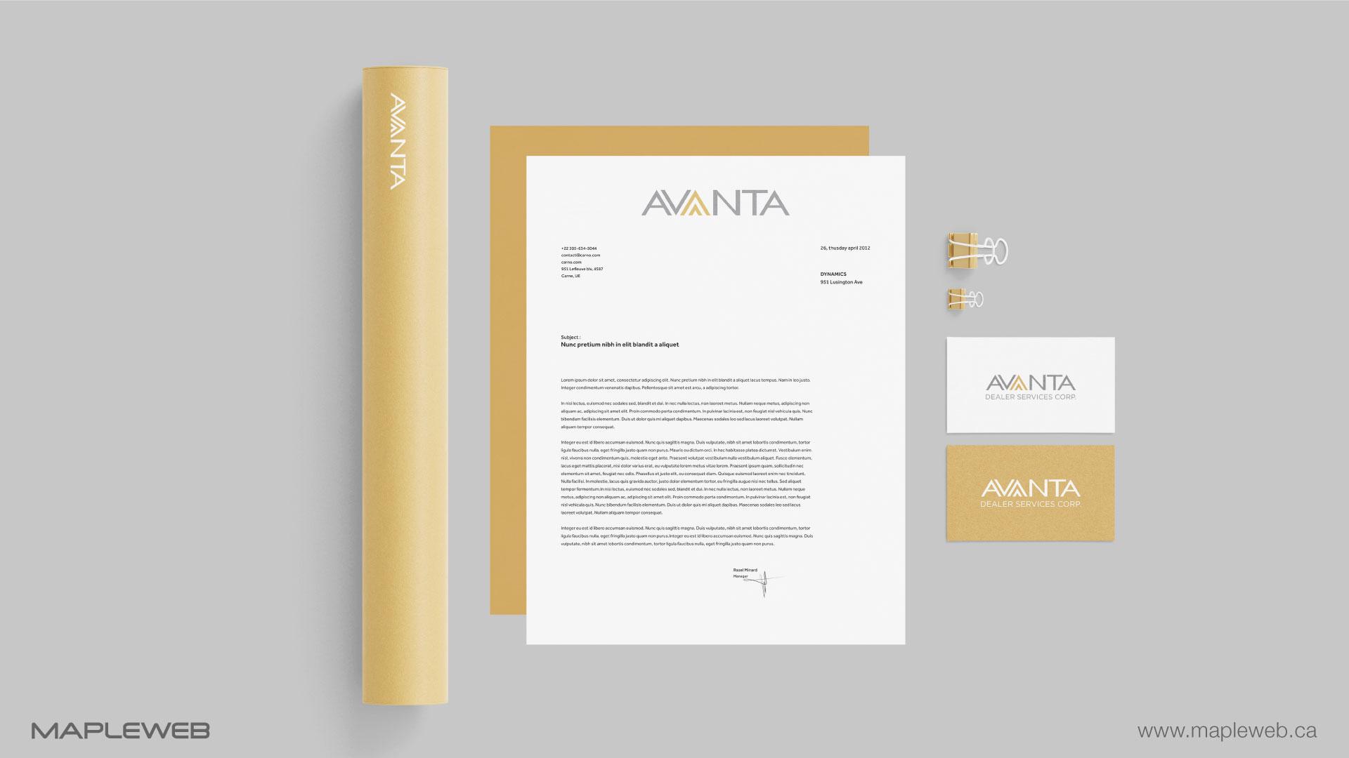 avanta-brand-logo-design-by-mapleweb-vancouver-canada-stationery-mock