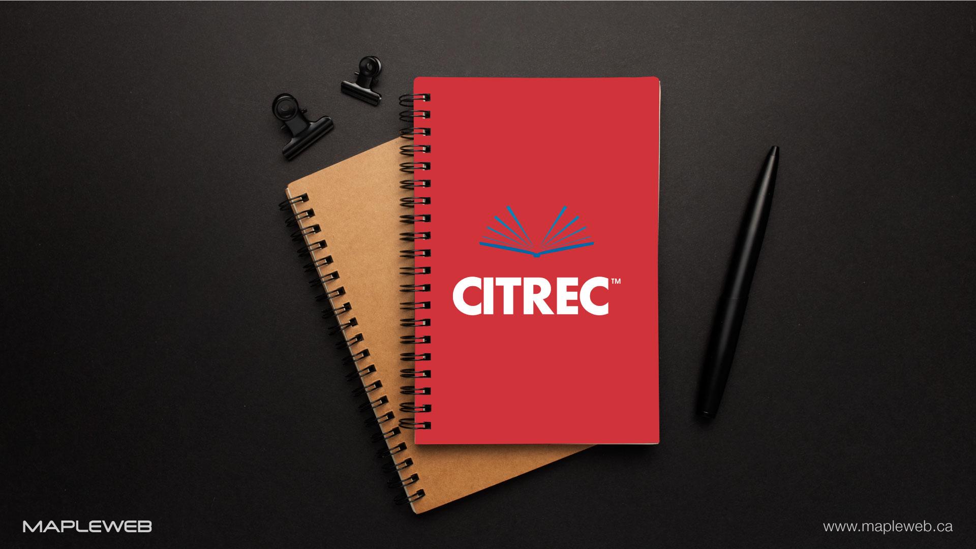 citrec-brand-logo-design-by-mapleweb-vancouver-canada-notebook-mock