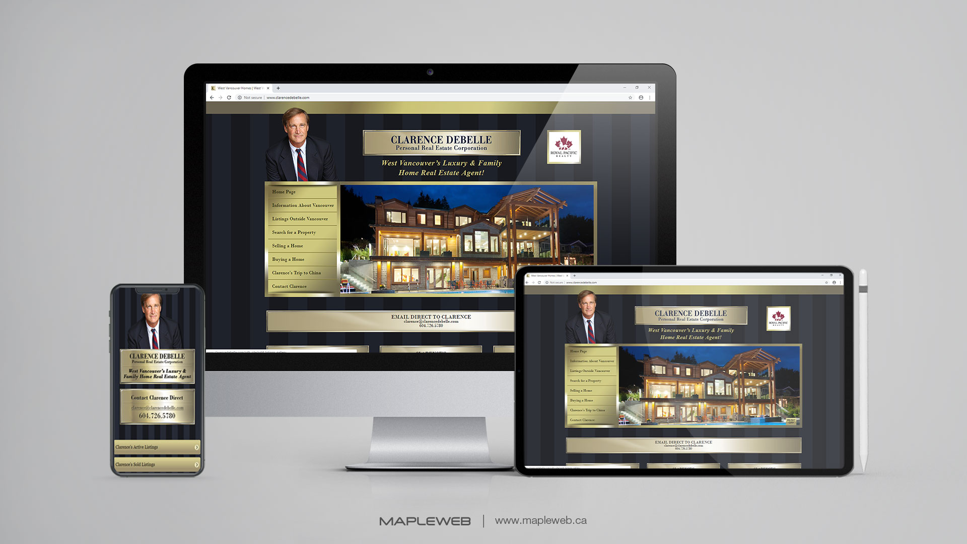 clarence-debelle-Vancouver-web-design-Vancouver-web-development-by-mapleweb-canada-multiple-devices-display