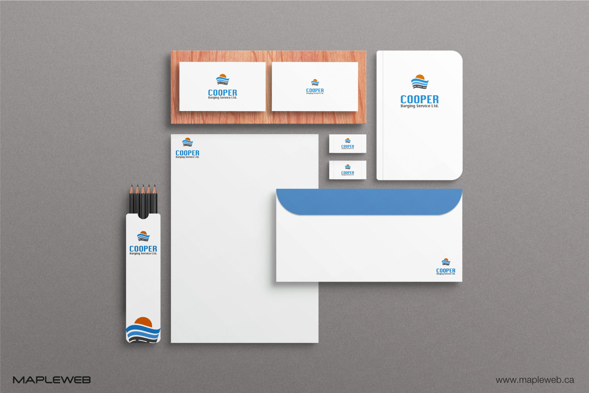 cooper-barging-service-brand-logo-design-by-mapleweb-vancouver-canada-stationery-mock