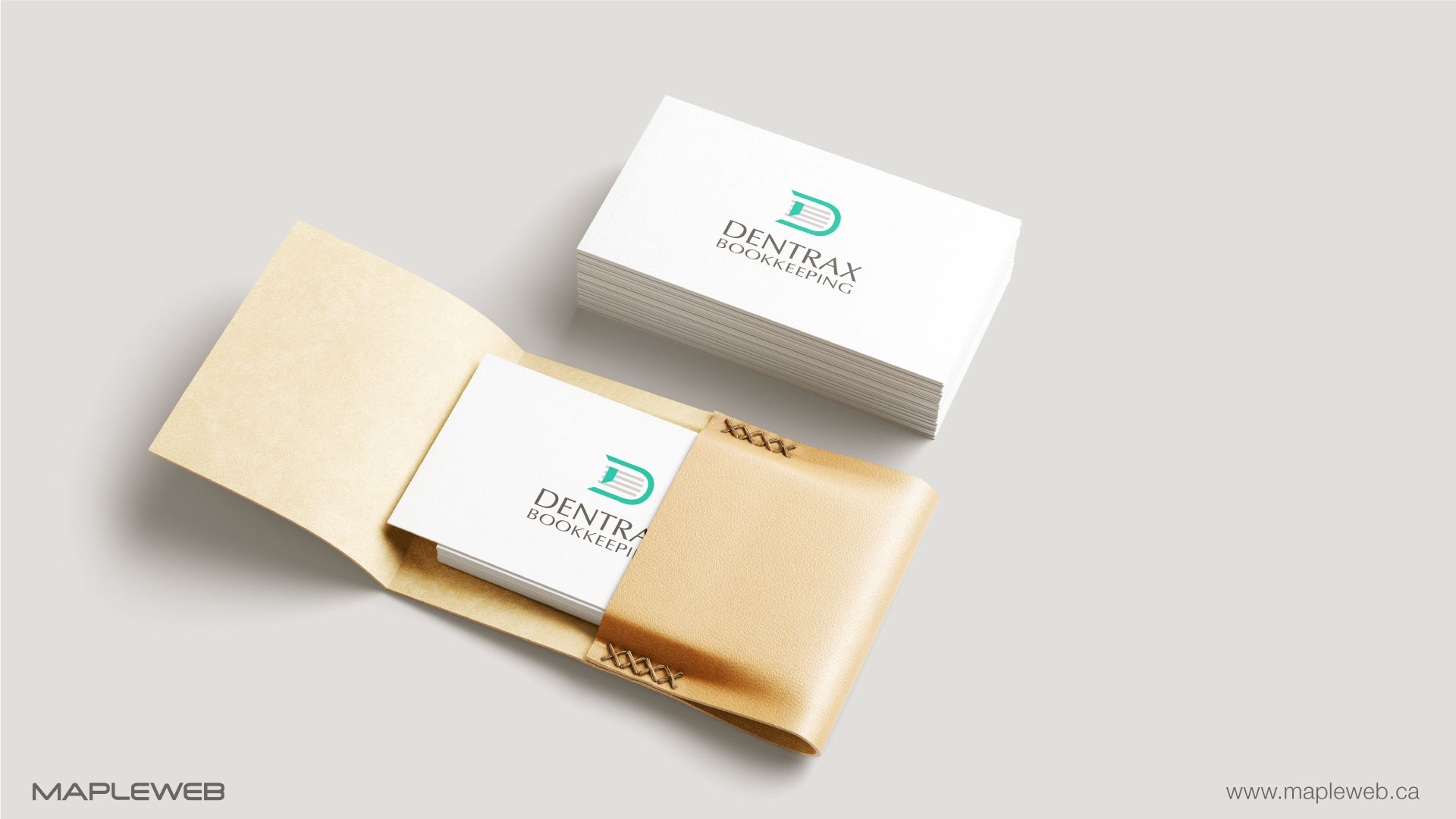 dentraxbookkeeping-brand-logo-design-by-mapleweb-vancouver-canada-business-card-mock