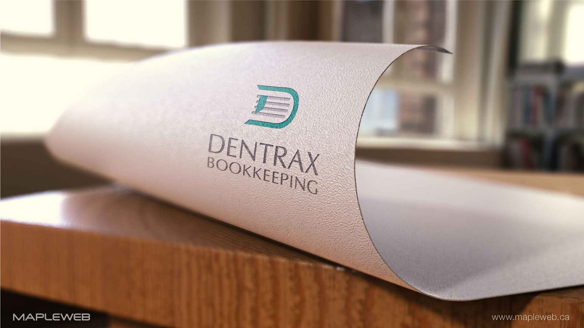 dentraxbookkeeping-brand-logo-design-by-mapleweb-vancouver-canada-folded-paper-mock