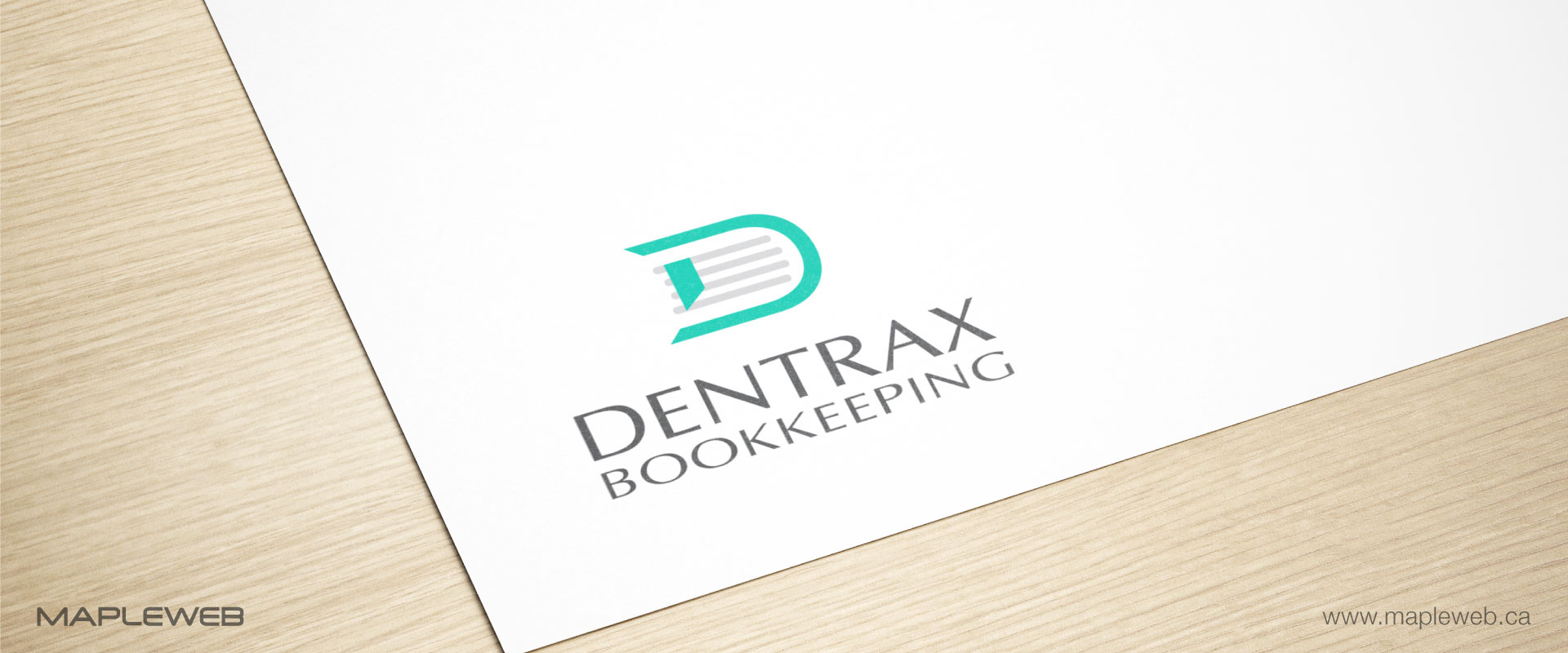 dentraxbookkeeping-brand-logo-design-by-mapleweb-vancouver-canada-paper-mock