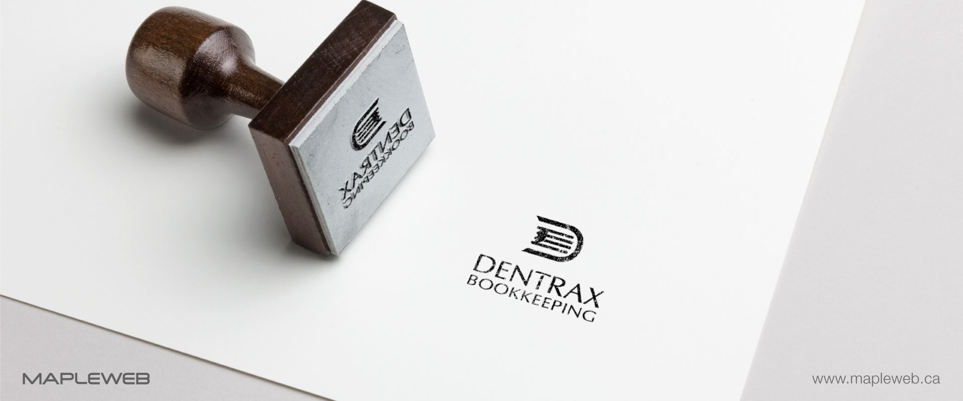 dentraxbookkeeping-brand-logo-design-by-mapleweb-vancouver-canada-stamp-mock