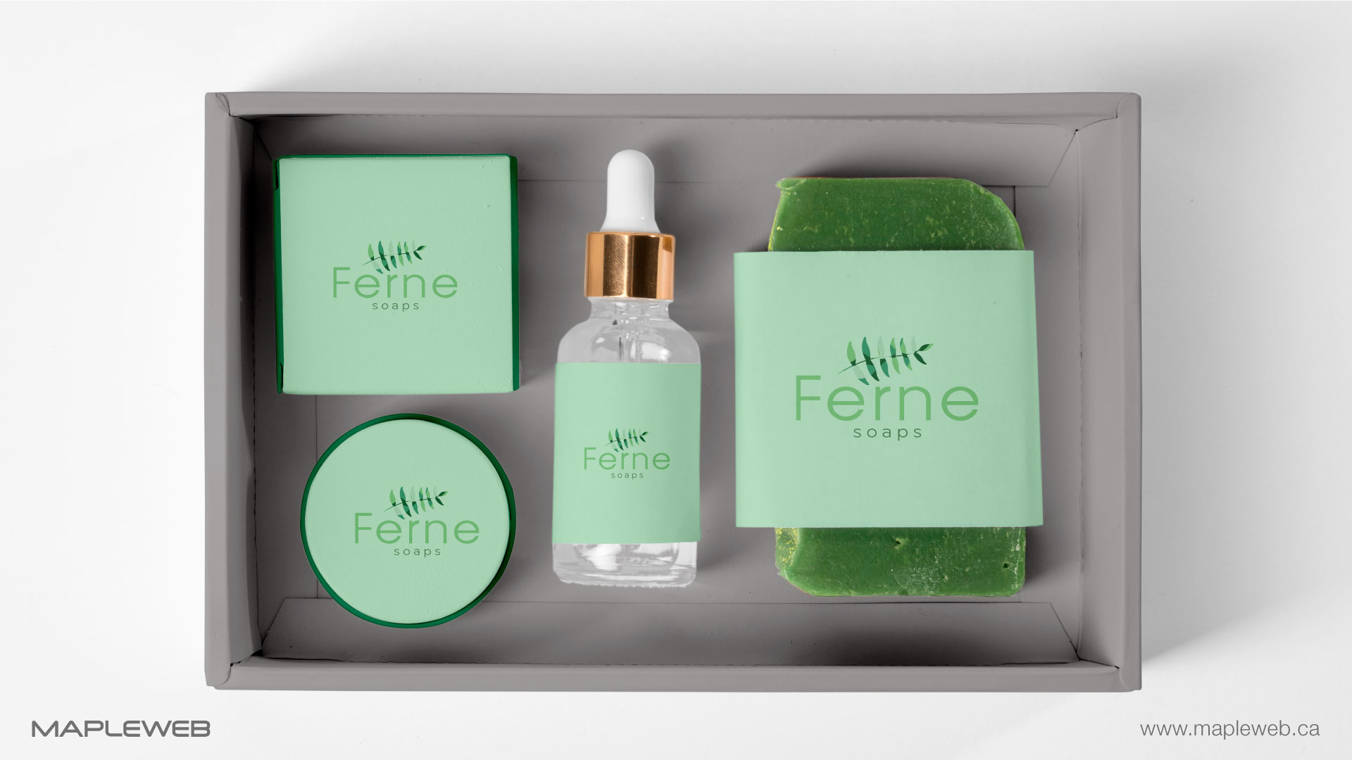 ferne-soap-brand-logo-design-by-mapleweb-vancouver-canada-soap-box-packaging-mock