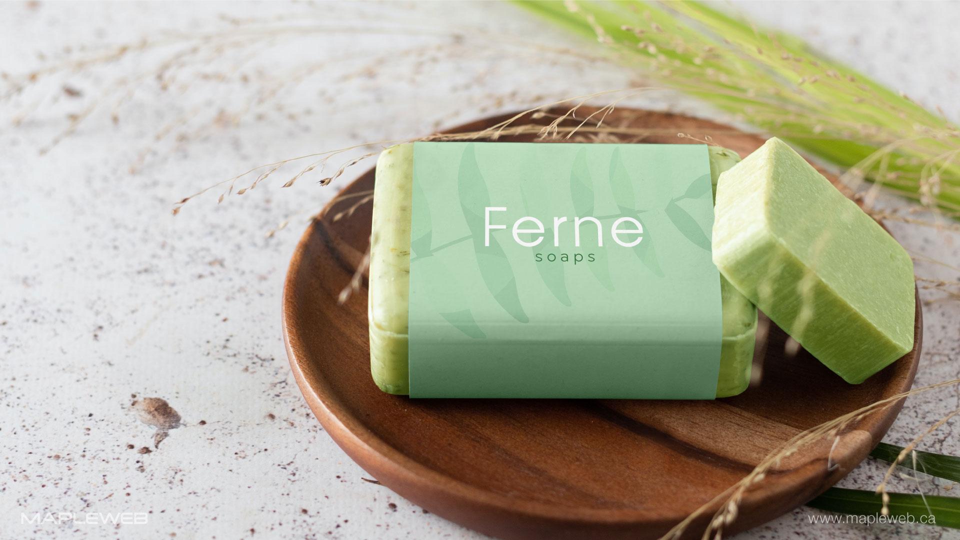 ferne-soap-brand-logo-design-by-mapleweb-vancouver-canada-soap-mock