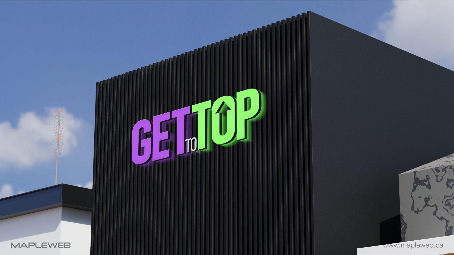 gettotop-brand-logo-design-by-mapleweb-vancouver-canada-black-building-mock