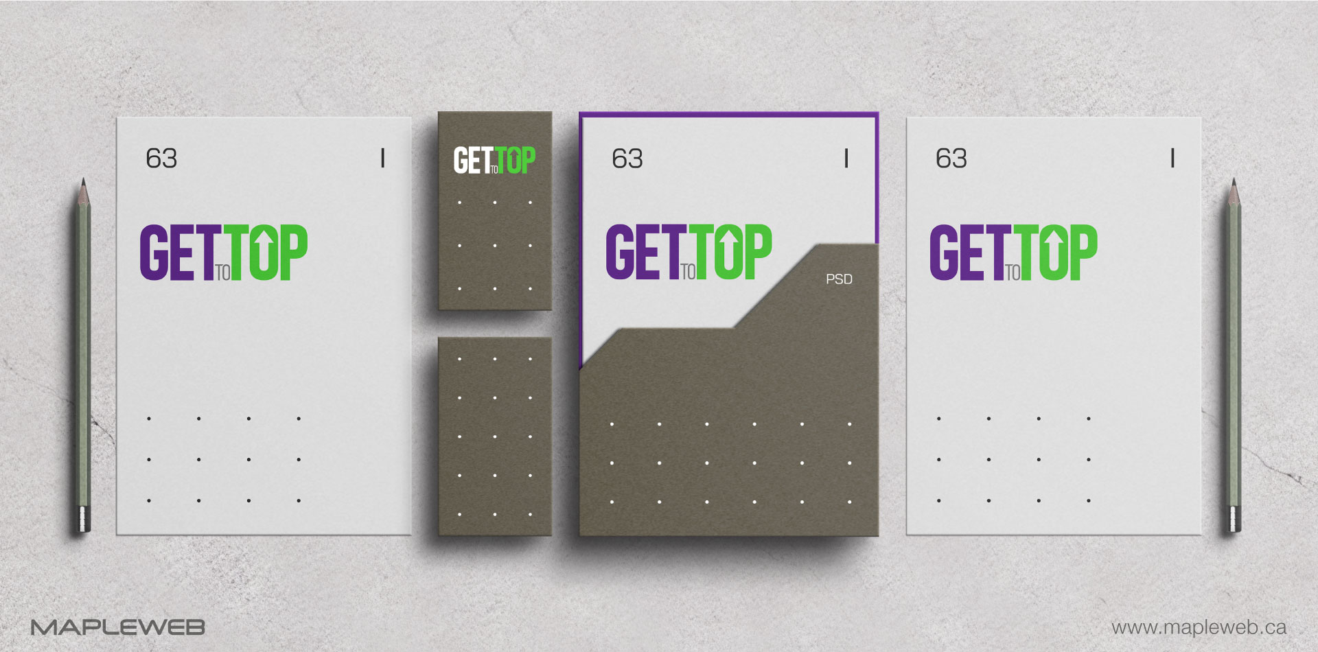 gettotop-brand-logo-design-by-mapleweb-vancouver-canada-stationery-mock