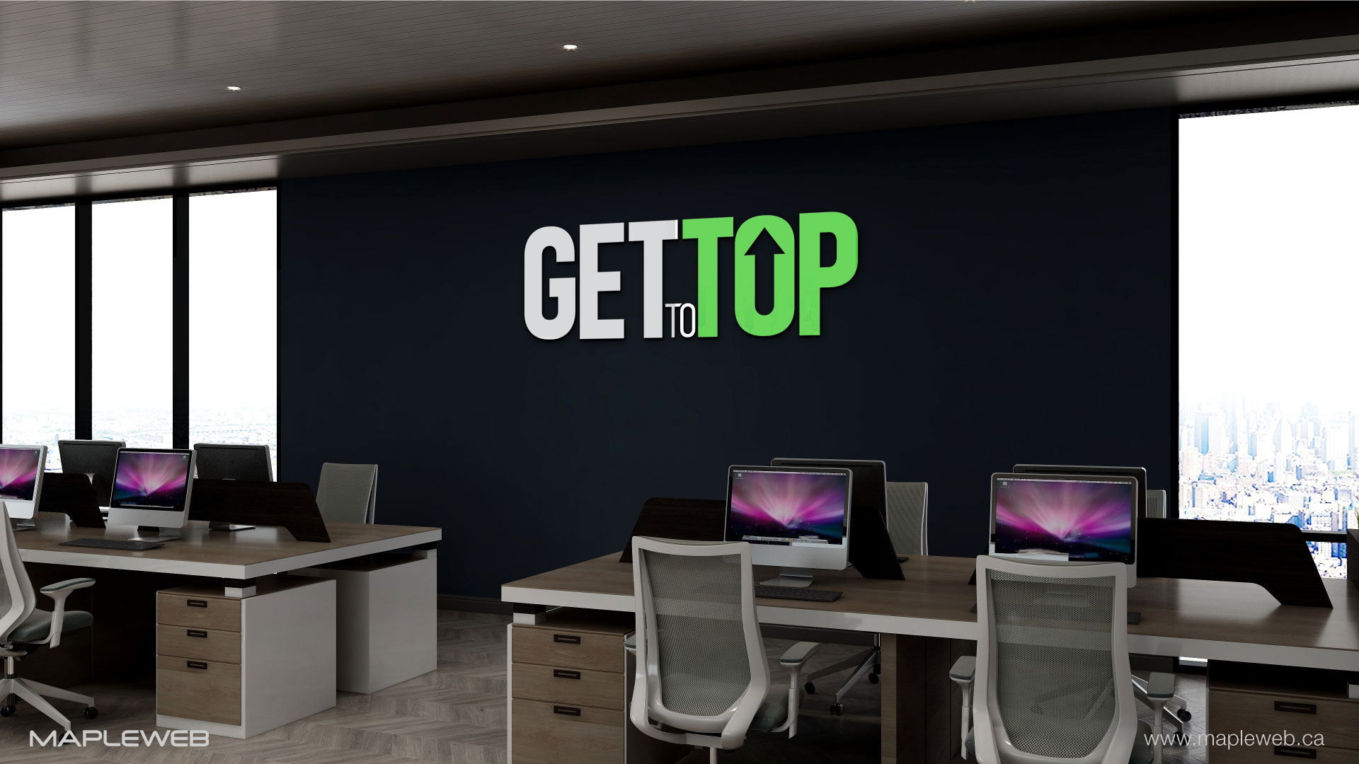 gettotop-brand-logo-design-by-mapleweb-vancouver-canada-wall-mock