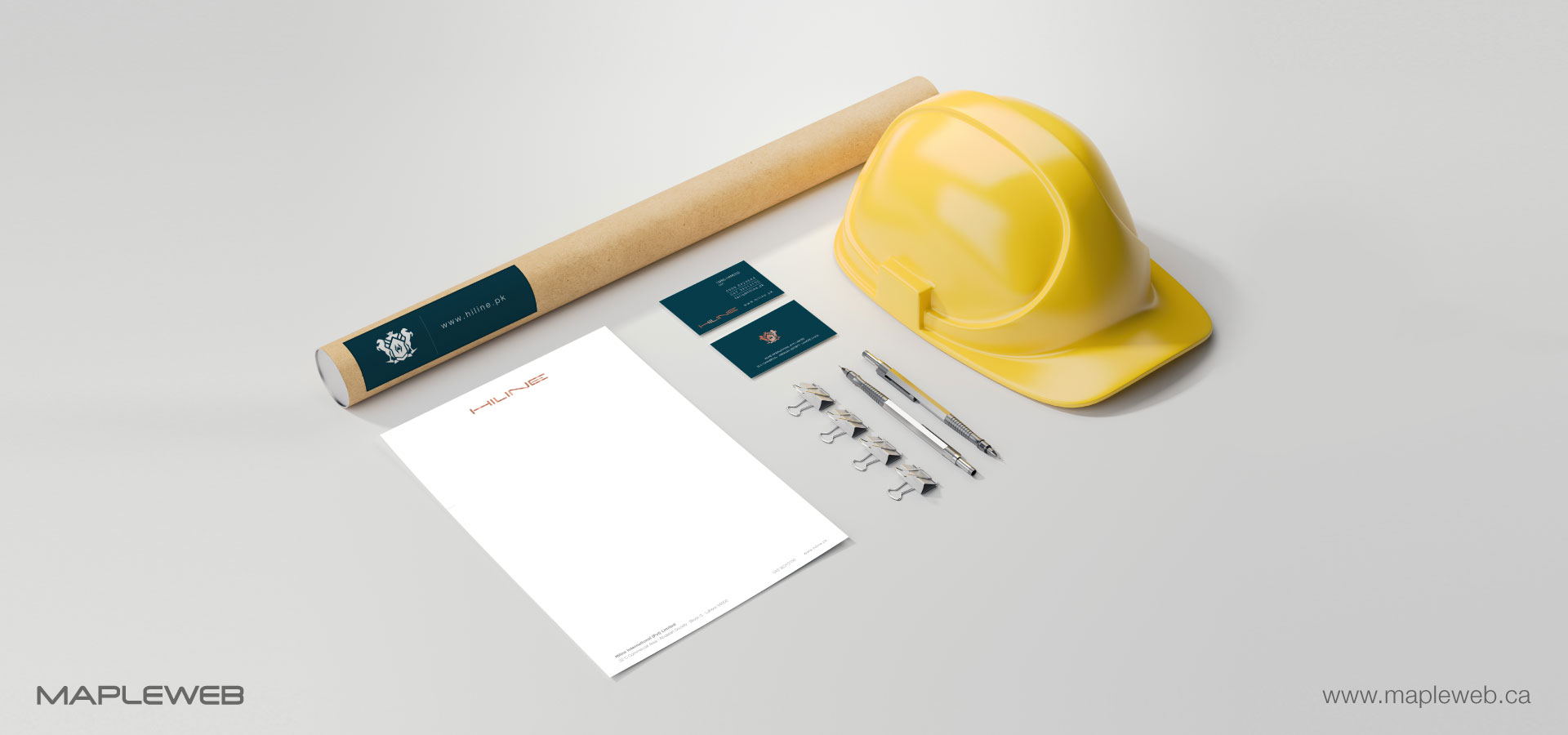 hiline-brand-logo-design-by-mapleweb-vancouver-canada-stationery-mock