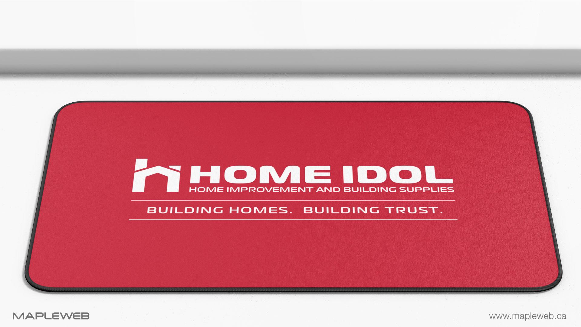 home-idol-brand-logo-design-by-mapleweb-vancouver-canada-floor-mat-mock