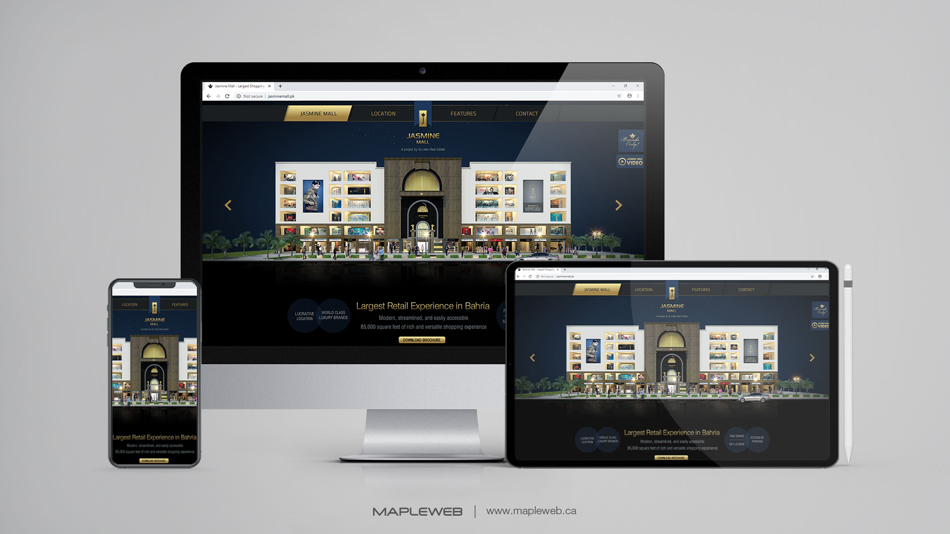 jasmine-mall-Vancouver-web-design-Vancouver-web-development-by-mapleweb-canada-multiple-devices-display