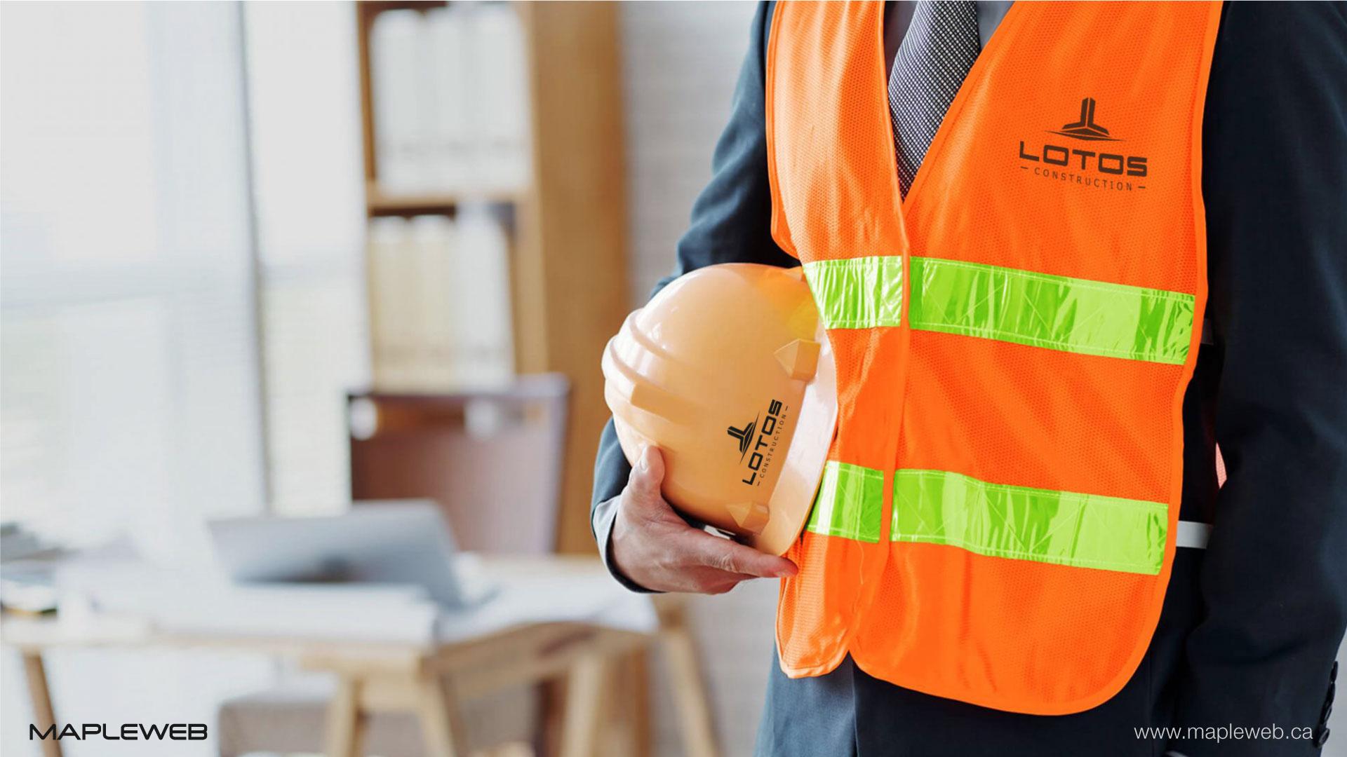 lotos-construction-brand-logo-design-by-mapleweb-vancouver-canada-3d-silver-mock