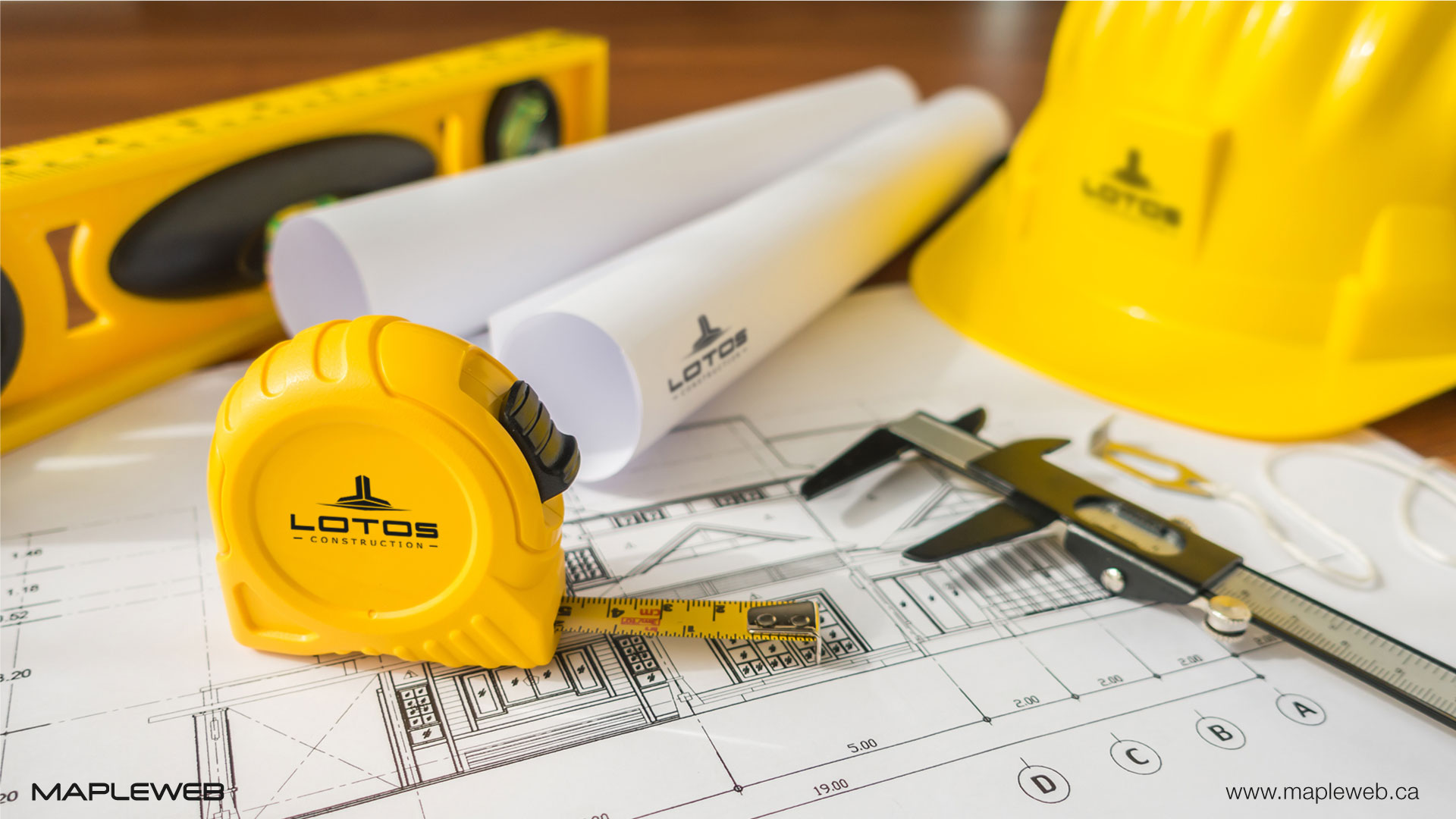 lotos-construction-brand-logo-design-by-mapleweb-vancouver-canada-constrcution-safety-helmet-and-uniform-mock