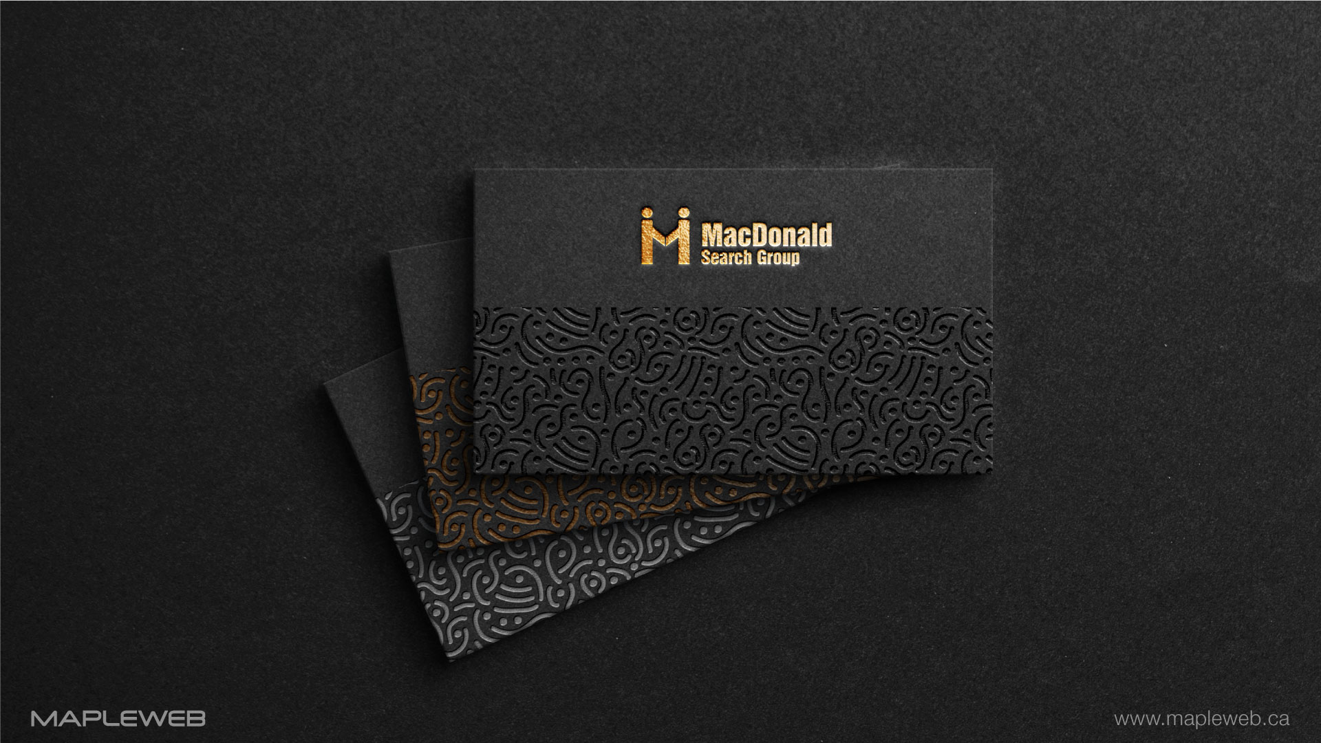 macdonald-search-group-brand-logo-design-by-mapleweb-vancouver-canada-black-business-card-mock