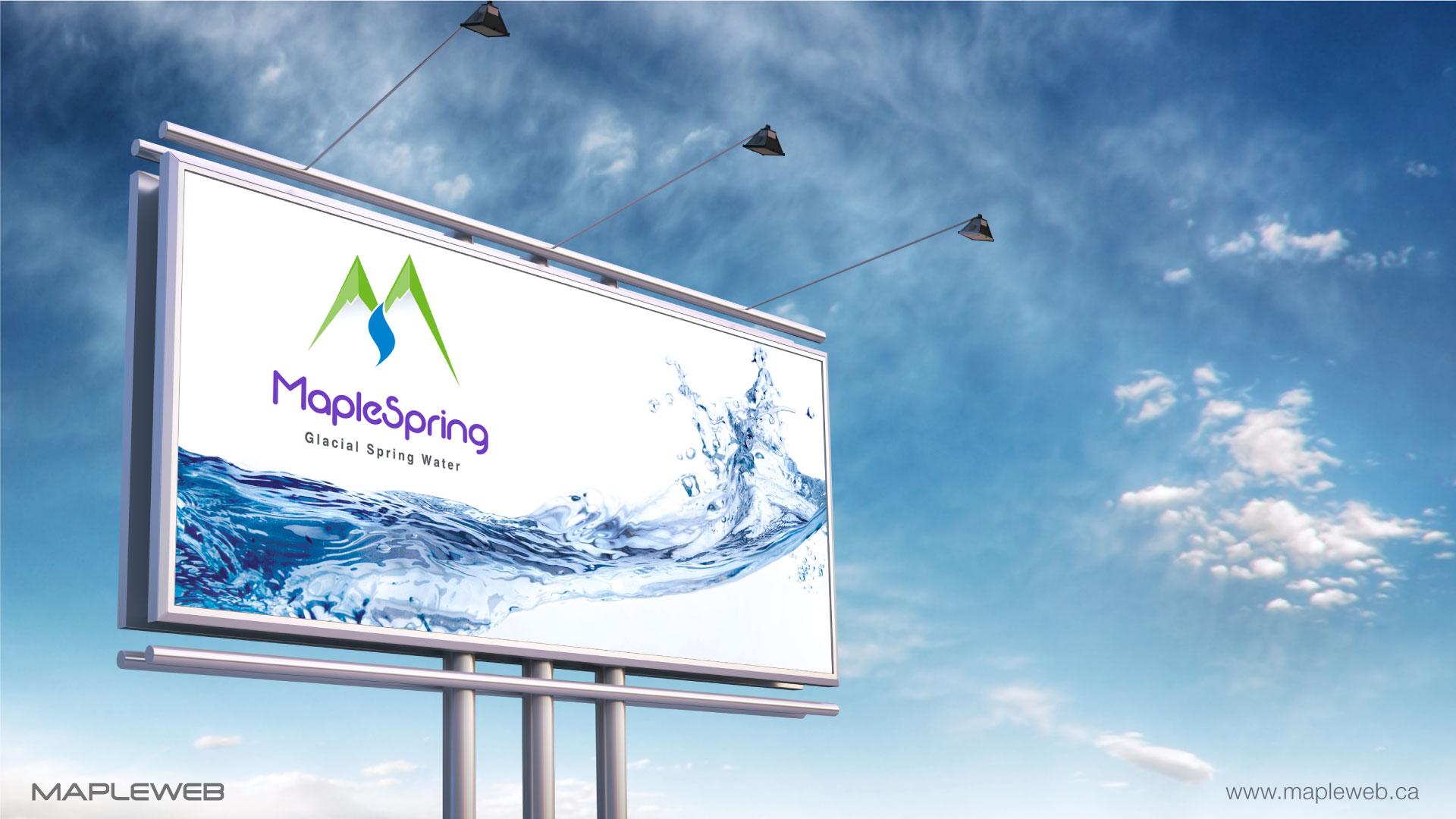 maplespring-brand-logo-design-by-mapleweb-vancouver-canada-billboard-mock