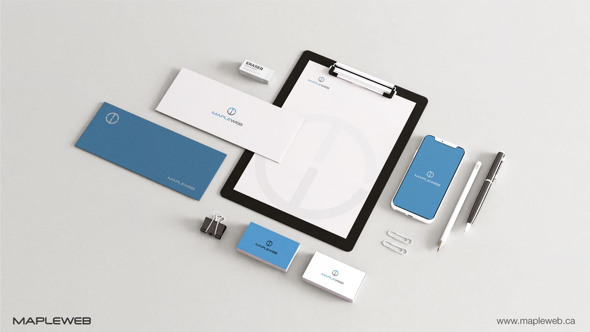 mapleweb-brand-logo-design-by-mapleweb-vancouver-canada-stationery-mock