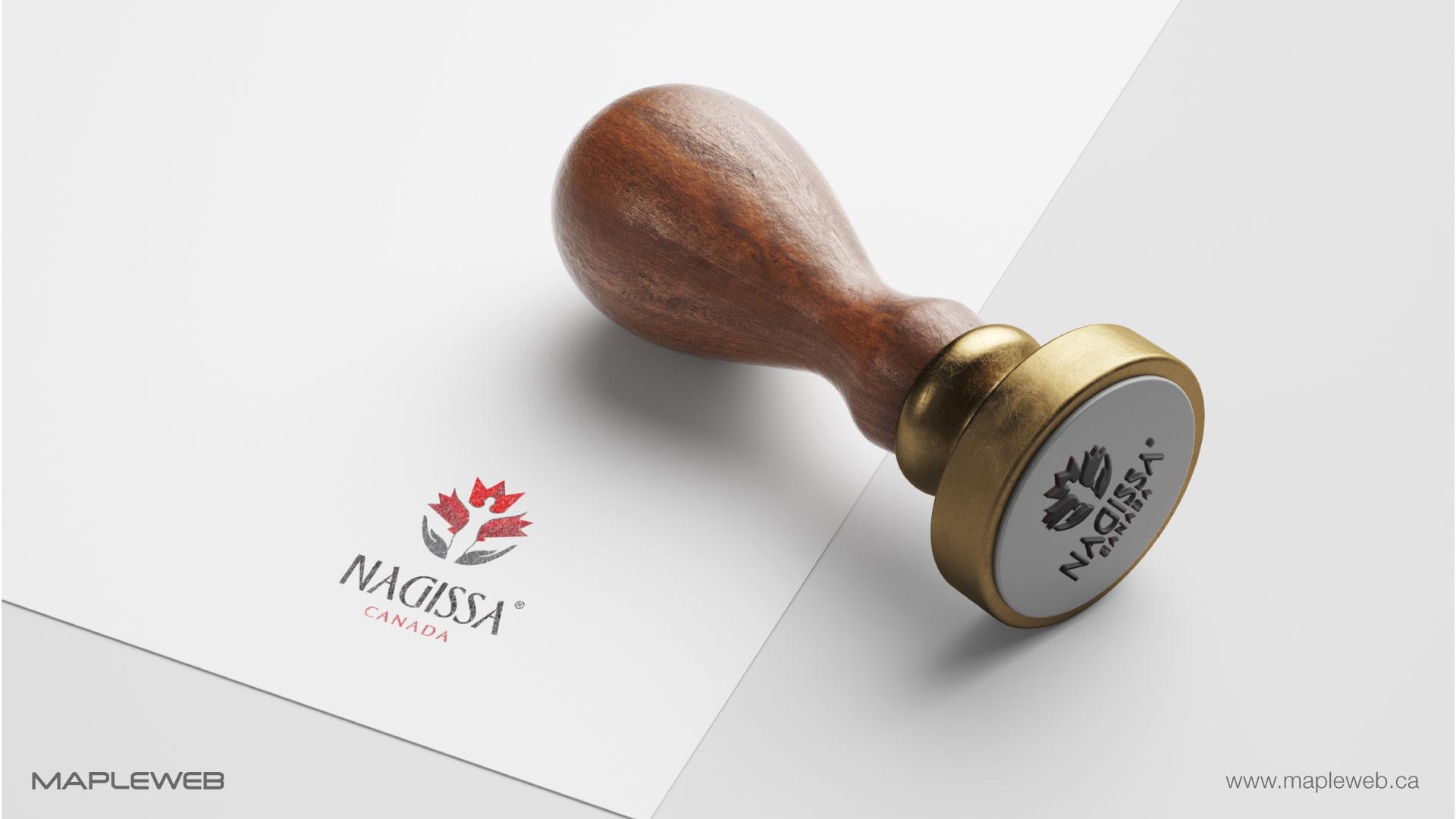 nagissa-canada-brand-logo-design-by-mapleweb-vancouver-canada-logo-on-stamp-mock