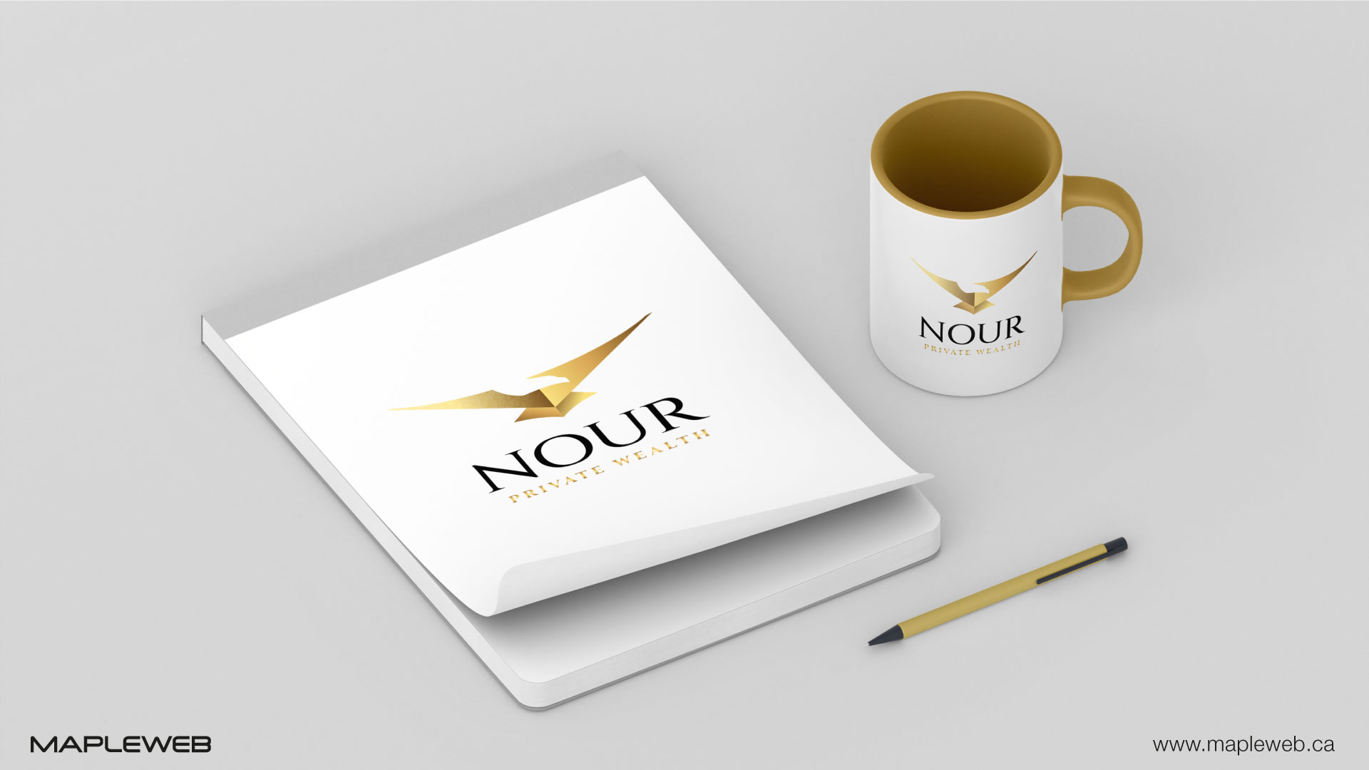 nour-private-wealth-brand-logo-design-by-mapleweb-vancouver-canada-notebook-and-mug-mock