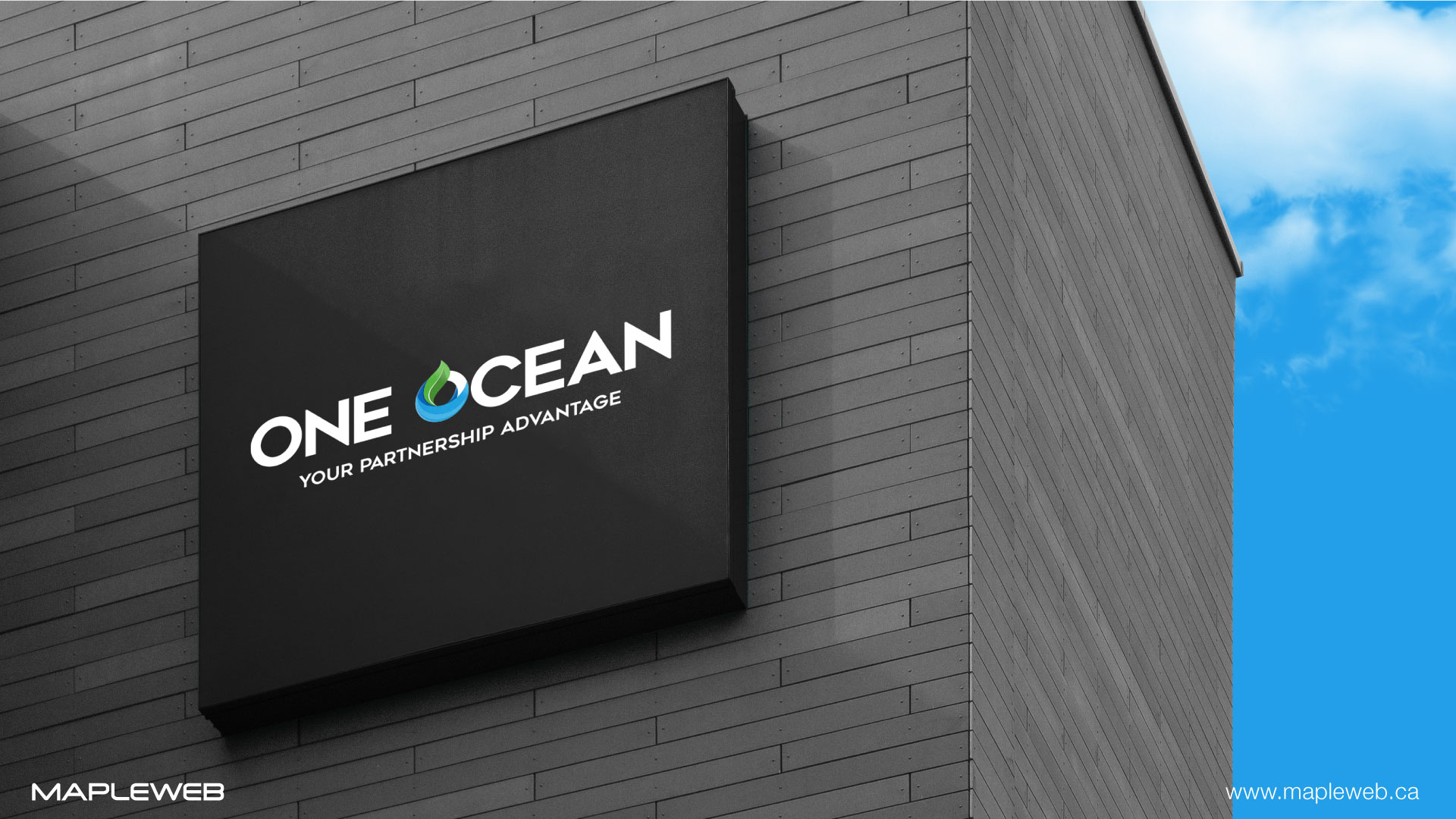 one-ocean-brand-logo-design-by-mapleweb-vancouver-canada-building-signage-mock
