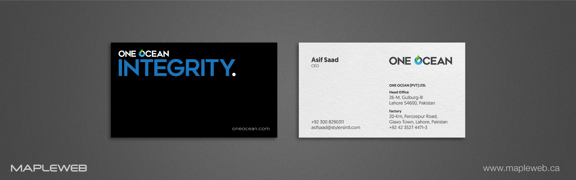 one-ocean-brand-logo-design-by-mapleweb-vancouver-canada-white-paper-black-and-white-business-card-mock