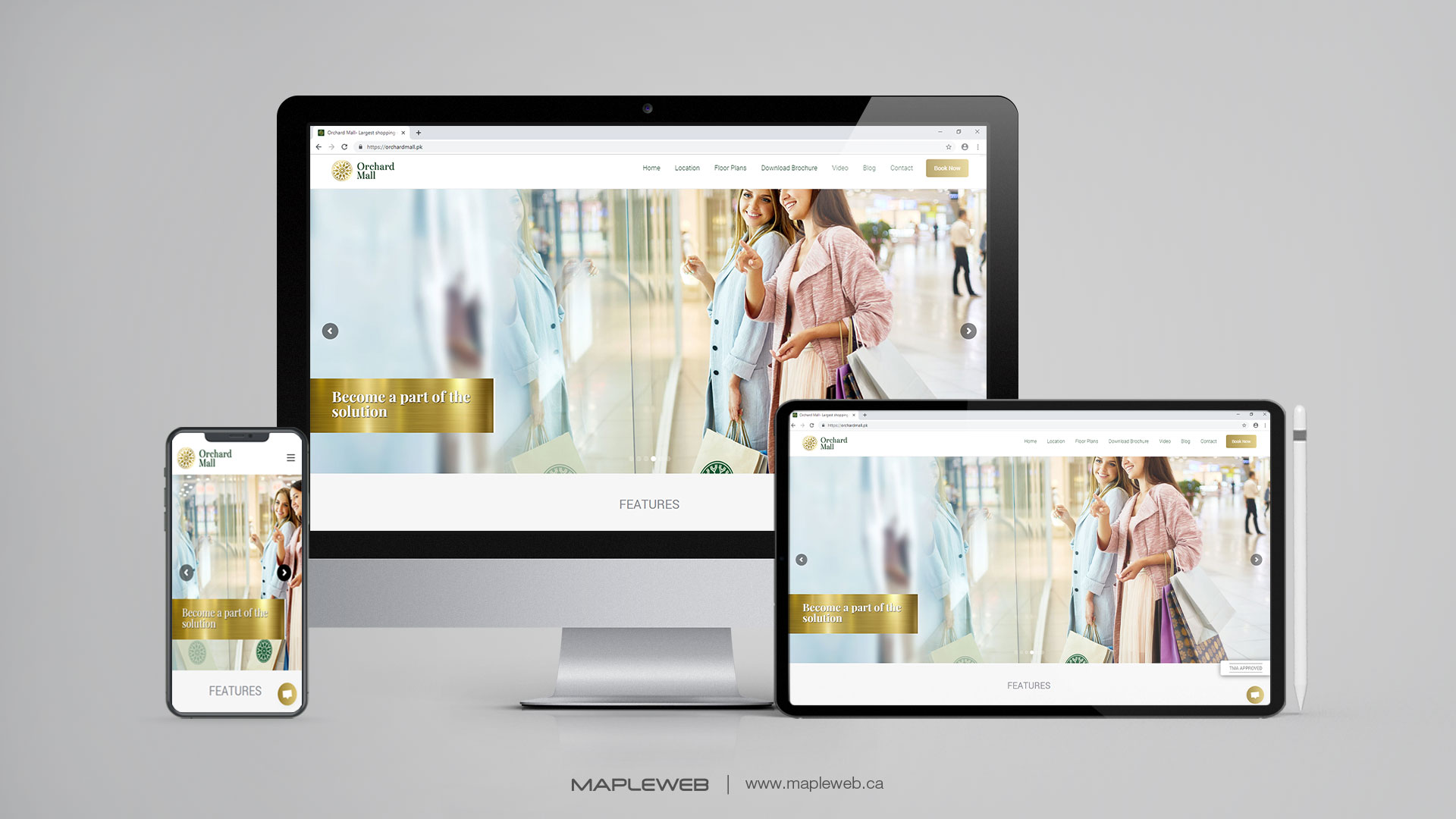 orchard-mall-Vancouver-web-design-Vancouver-web-development-by-mapleweb-canada-multiple-devices-display