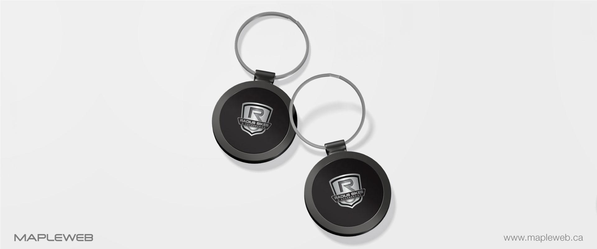 radius-bikes-brand-logo-design-by-mapleweb-vancouver-canada-keychain-mock