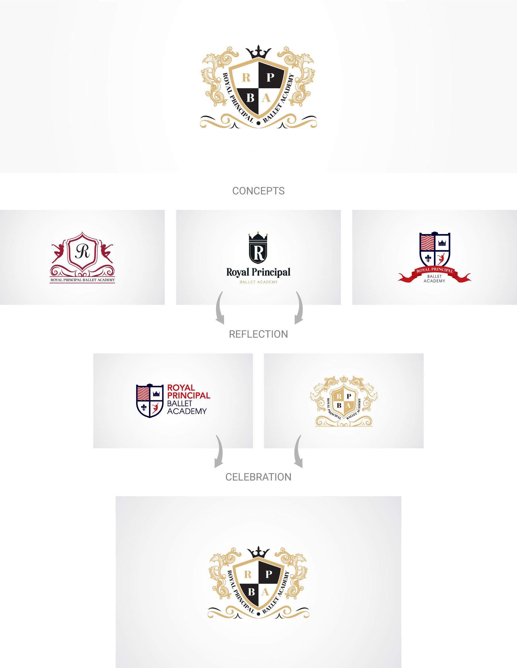 Royal-principal-ballet-academy-logo-design