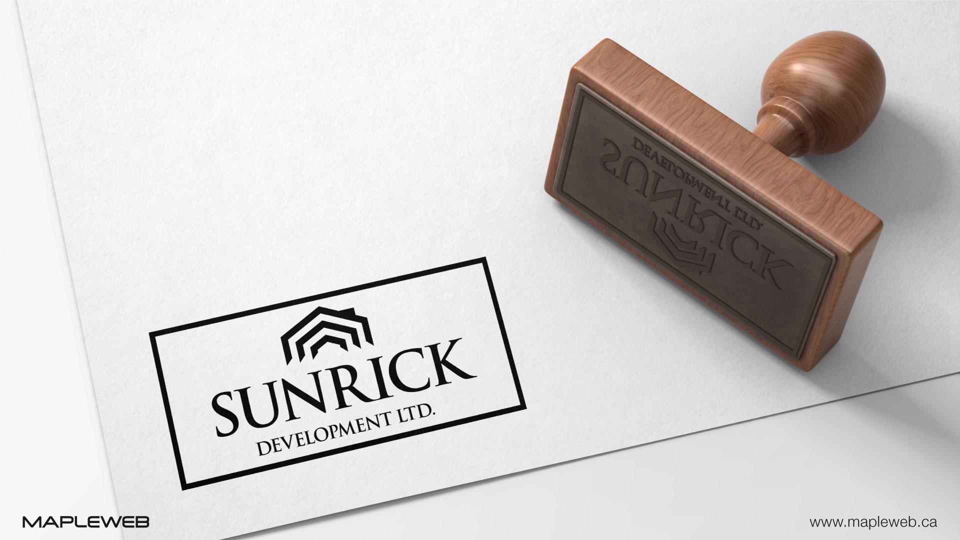 sunrick-development-ltd-brand-logo-design-by-mapleweb-vancouver-canada-stamp-mock