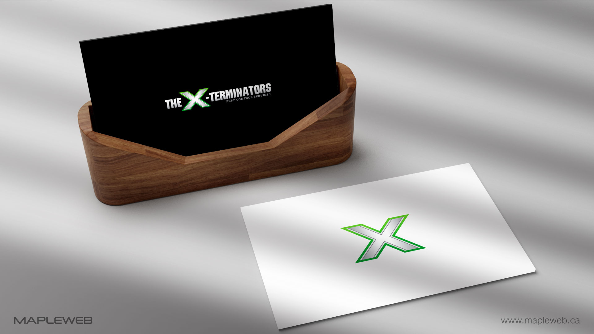 the-x-terminators-brand-logo-design-by-mapleweb-vancouver-canada-business-card-mock