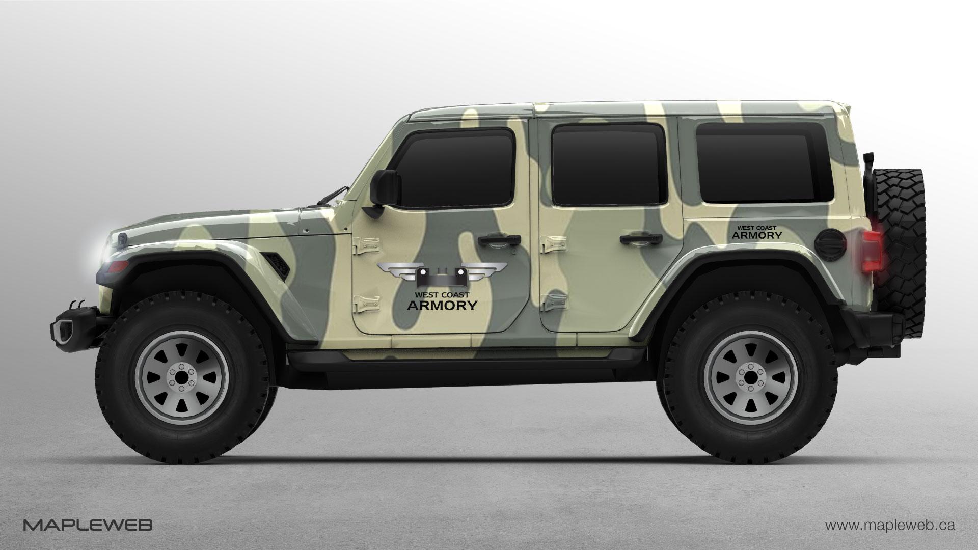 west-coast-armory-brand-logo-design-by-mapleweb-vancouver-canada-aromory-jeep-mock