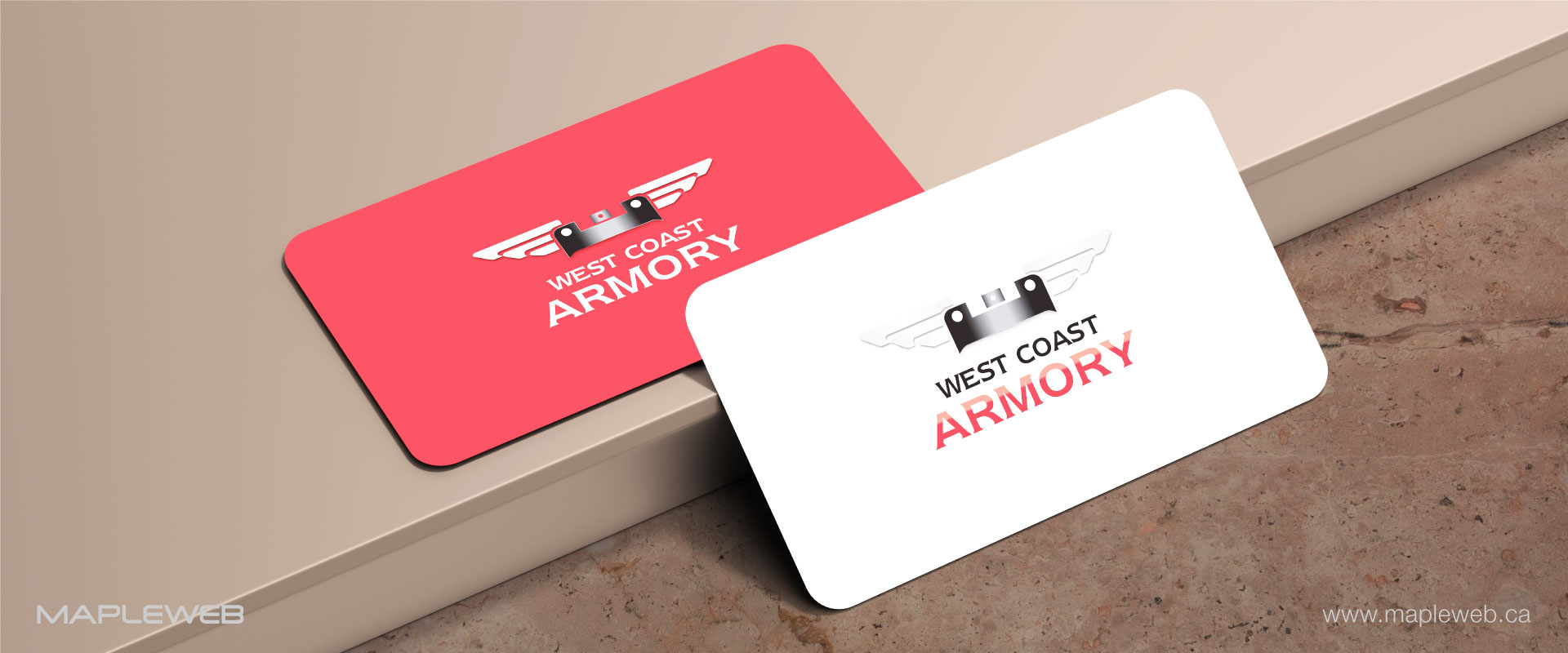 west-coast-armory-brand-logo-design-by-mapleweb-vancouver-canada-business-card-mock