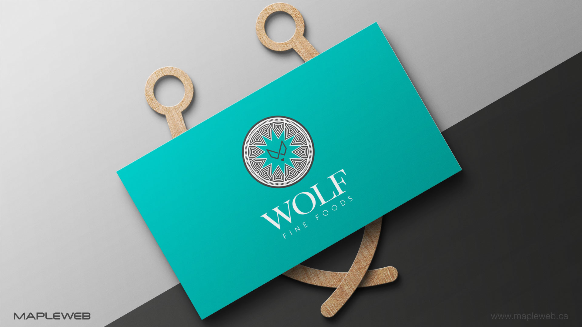 wolf-fine-foods-brand-logo-design-by-mapleweb-vancouver-canada-business-card-mock