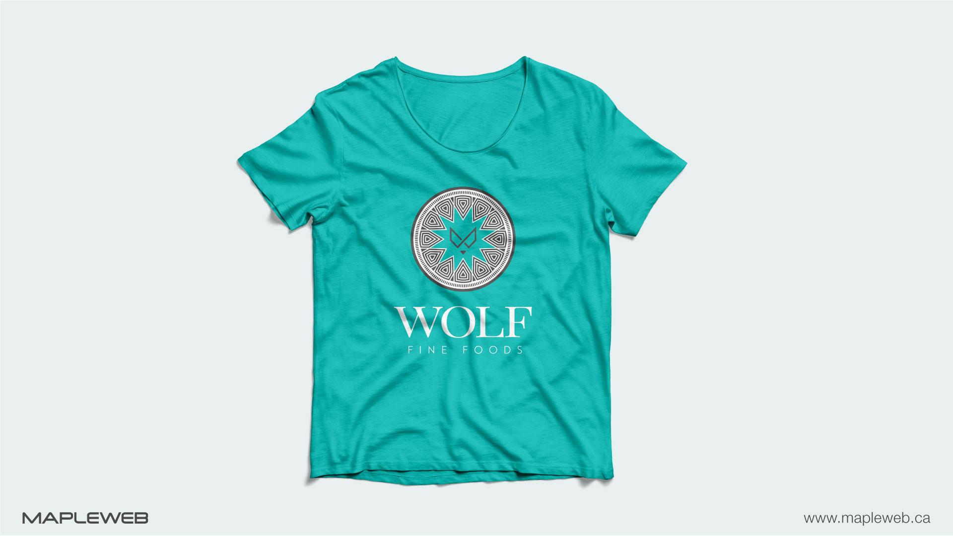 wolf-fine-foods-brand-logo-design-by-mapleweb-vancouver-canada-tshirt-mock
